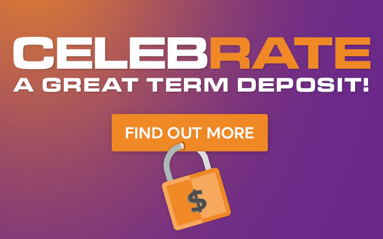 Celebrate a great term deposit