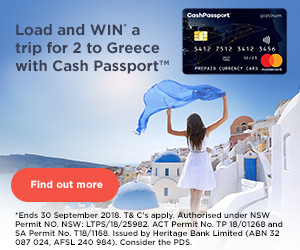 Load a new Cash Passport™ and get a Bonus $30* towards your holiday!